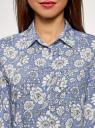 Блузка базовая из вискозы oodji для женщины (синий), 11411136B/26346/7512F
