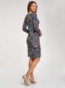 Платье трикотажное с вырезом-капелькой на спине oodji #SECTION_NAME# (черный), 24001070-5/15640/2945F - вид 3