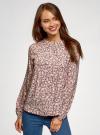 Блузка вискозная с отстрочками на груди oodji #SECTION_NAME# (розовый), 21411121/47075N/4029F - вид 2