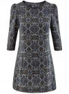 Платье с карманами и отделкой из искусственной кожи oodji #SECTION_NAME# (черный), 12C02003/43299/2979E
