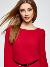 Платье из шифона с ремнем oodji для женщины (красный), 11900150-5B/32823/4500N - вид 4