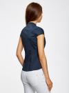 Рубашка с коротким рукавом из хлопка oodji #SECTION_NAME# (синий), 11403196-1/18193/7900N - вид 3