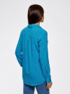 Блузка базовая из вискозы oodji #SECTION_NAME# (синий), 11400355-5/26346/7500N - вид 3