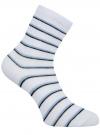 Носки базовые хлопковые oodji для женщины (белый), 57102466B/47469/1079S
