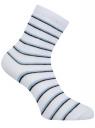 Носки базовые хлопковые oodji #SECTION_NAME# (белый), 57102466B/47469/1079S