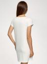 Платье домашнее с принтом oodji для женщины (белый), 59801006-24/46154/1229P