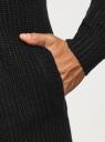 Кардиган вязаный без застежки oodji #SECTION_NAME# (черный), 4L605045M/34800N/2900N - вид 5