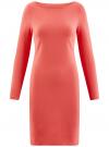 Платье трикотажное облегающего силуэта oodji для женщины (розовый), 14001183B/46148/4101N