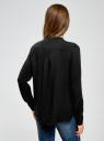 Блузка вискозная А-образного силуэта oodji #SECTION_NAME# (черный), 21411113B/26346/2900N - вид 3