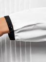 Блузка из струящейся ткани с контрастным воротником oodji #SECTION_NAME# (белый), 11411117-1B/48853/1229B - вид 5