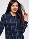 Блузка вискозная прямого силуэта oodji #SECTION_NAME# (синий), 11411098-3/24681/7912C - вид 4