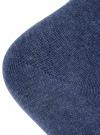 Носки укороченные базовые oodji #SECTION_NAME# (синий), 57102418B/47469/7900M - вид 3