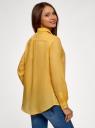 Рубашка хлопковая свободного силуэта oodji #SECTION_NAME# (желтый), 11411101B/45561/5200N - вид 3