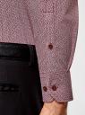 Рубашка хлопковая в мелкую графику oodji #SECTION_NAME# (красный), 3L110288M/19370N/1049G - вид 5
