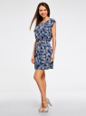 Платье вискозное без рукавов oodji #SECTION_NAME# (синий), 11910073B/26346/7930O - вид 6