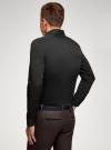 Рубашка базовая приталенная oodji #SECTION_NAME# (черный), 3B140000M/34146N/2900N - вид 3