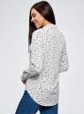 Блузка прямого силуэта с нагрудным карманом oodji для женщины (белый), 11411134B/48853/1229O