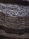 Кардиган полосатый с капюшоном oodji #SECTION_NAME# (серый), 63205244/46133/2520S - вид 5