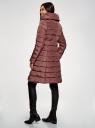 Пальто стеганое с объемным воротником oodji #SECTION_NAME# (красный), 10204049-1B/24771/3102N - вид 3