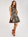 Платье приталенное с расклешенной юбкой oodji для женщины (черный), 11902151/24393/2931F