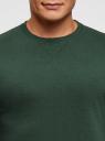 Свитшот базовый с круглым вырезом oodji #SECTION_NAME# (зеленый), 5B113001M/44312N/6E00N - вид 4