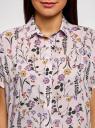Блузка вискозная свободного силуэта oodji для женщины (розовый), 11405139-1/24681/4080F