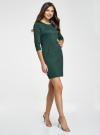 Платье трикотажное с рукавом 3/4 oodji для женщины (зеленый), 24001100-2/42408/6E00N - вид 6
