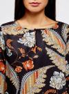 Блузка свободного кроя с вырезом-капелькой oodji #SECTION_NAME# (черный), 21400321-2/33116/2933F - вид 4