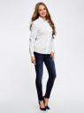 Рубашка прямого силуэта с потайной застежкой oodji для женщины (белый), 21411066B/42083/1000N