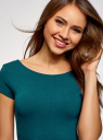 Платье миди с вырезом на спине oodji для женщины (зеленый), 24001104-5B/47420/7400N