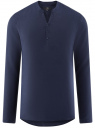 Рубашка льняная без воротника oodji #SECTION_NAME# (синий), 3B320002M/21155N/7800N