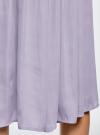 Юбка в складку с запахом oodji #SECTION_NAME# (фиолетовый), 13G00003B/42662/8000N - вид 5