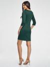 Платье трикотажное с рукавом 3/4 oodji для женщины (зеленый), 24001100-2/42408/6E00N - вид 3