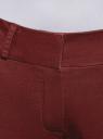Брюки-чиносы из хлопка oodji для женщины (красный), 11706211/48501/4903N