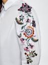 Рубашка хлопковая с вышивкой oodji #SECTION_NAME# (белый), 13L05001/13175N/1000N - вид 5