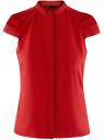 Рубашка с коротким рукавом из хлопка oodji #SECTION_NAME# (красный), 11403196-3/26357/4500N