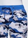 Брюки трикотажные на завязках oodji #SECTION_NAME# (синий), 16701042-2B/46919/2375O - вид 4