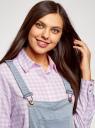 Комбинезон джинсовый с нагрудным карманом oodji для женщины (синий), 13108004-1/46734/7000W