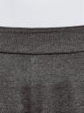 Брюки домашние на эластичном поясе oodji для женщины (серый), 59807039/47518/2501M