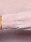 Джемпер базовый с круглым вырезом oodji для женщины (розовый), 63812571-1B/46192/4010M - вид 5