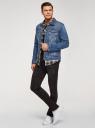 Куртка джинсовая с нагрудными карманами oodji #SECTION_NAME# (синий), 6L300010M/46627/7500W - вид 6