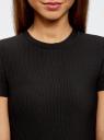 Платье трикотажное с коротким рукавом oodji #SECTION_NAME# (черный), 14011007/45262/2900N - вид 4