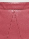 Юбка из искусственной кожи на молнии oodji для женщины (розовый), 18H00003/45704/4A00N