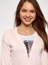 Кардиган вязаный без застежки oodji для женщины (розовый), 63212581B/49345/4000M