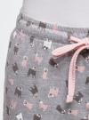 Брюки принтованные с завязками oodji для женщины (серый), 59807042-2/46154/2040O - вид 5