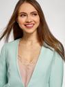 Жакет свободного силуэта с застежкой oodji для женщины (бирюзовый), 11202073/46742/7300N