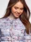 Куртка стеганая с круглым вырезом oodji для женщины (синий), 10204040-1B/42257/7019F - вид 4