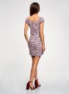 Платье хлопковое со сборками на груди oodji #SECTION_NAME# (розовый), 11902047-2B/14885/4049E - вид 3