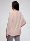 Джемпер флисовый с вышивкой  oodji #SECTION_NAME# (розовый), 59811024/24018/4012P - вид 3