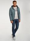 Куртка стеганая с капюшоном oodji #SECTION_NAME# (синий), 1B112009M/25278N/7501N - вид 6